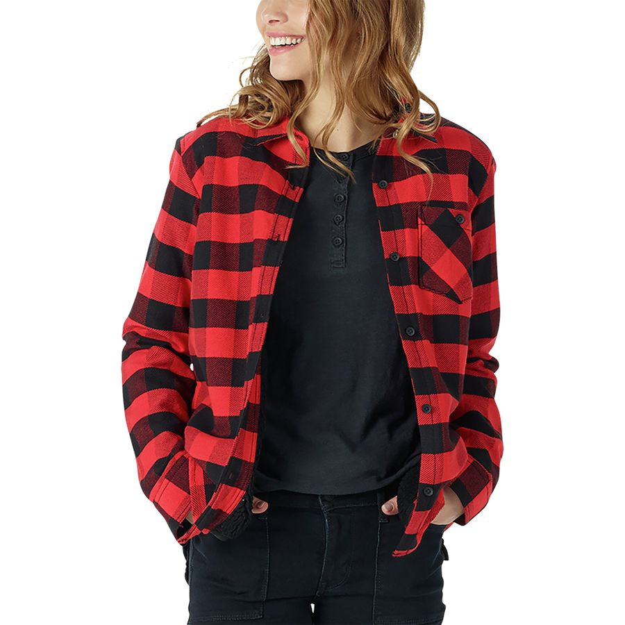 Burton Grace Sherpa Flannel Shirt - Womens