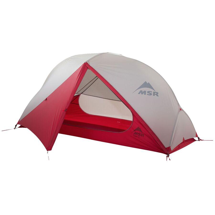 MSR - Hubba NX Tent  1-Person 3-Season - Red 5ea45d3a9955