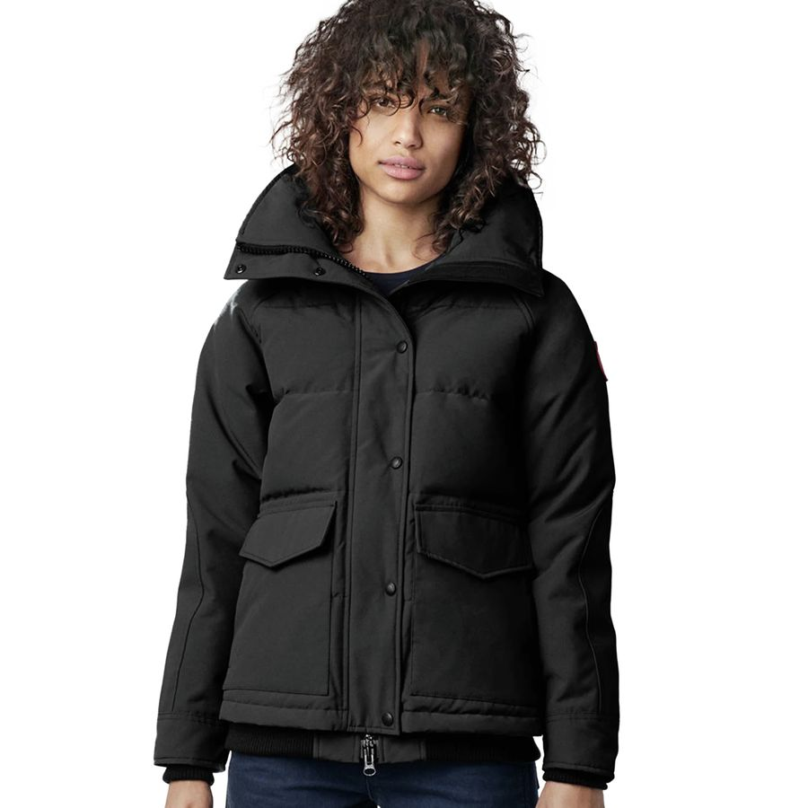 black canada goose jacket womens