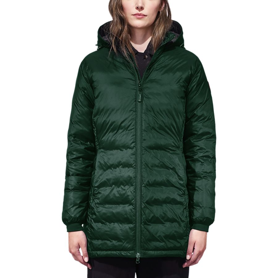 Canada Goose - Camp Down Hooded Jacket - Women s - Spruce Black b7b2eab271