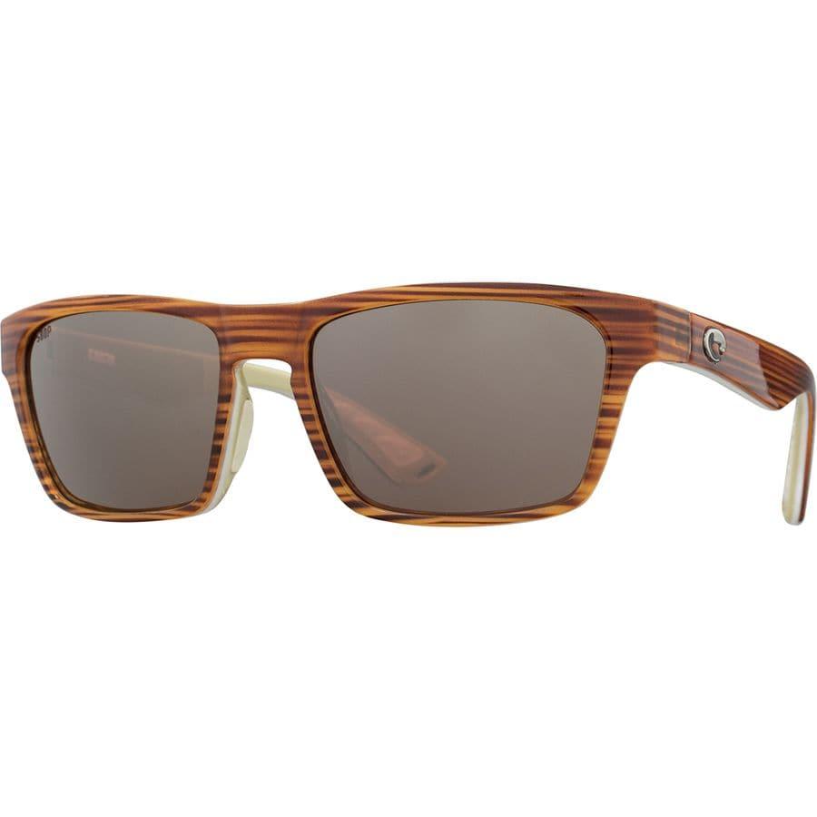 9f30eec101a Costa - Hinano 580P Polarized Sunglasses - Driftwood White Khaki Silver  Mirror 580p