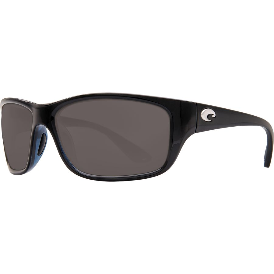 75aceadf46257 Costa - Tasman Sea 580P Polarized Sunglasses - Shiny Black Gray 580p