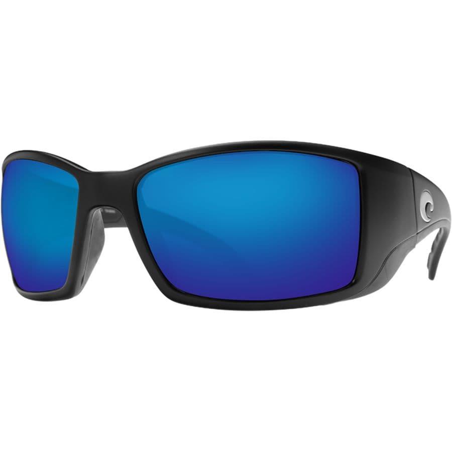 56b966c405d0 Costa - Blackfin 580P Polarized Sunglasses - Matte Black Frame/Blue Mirror  580P