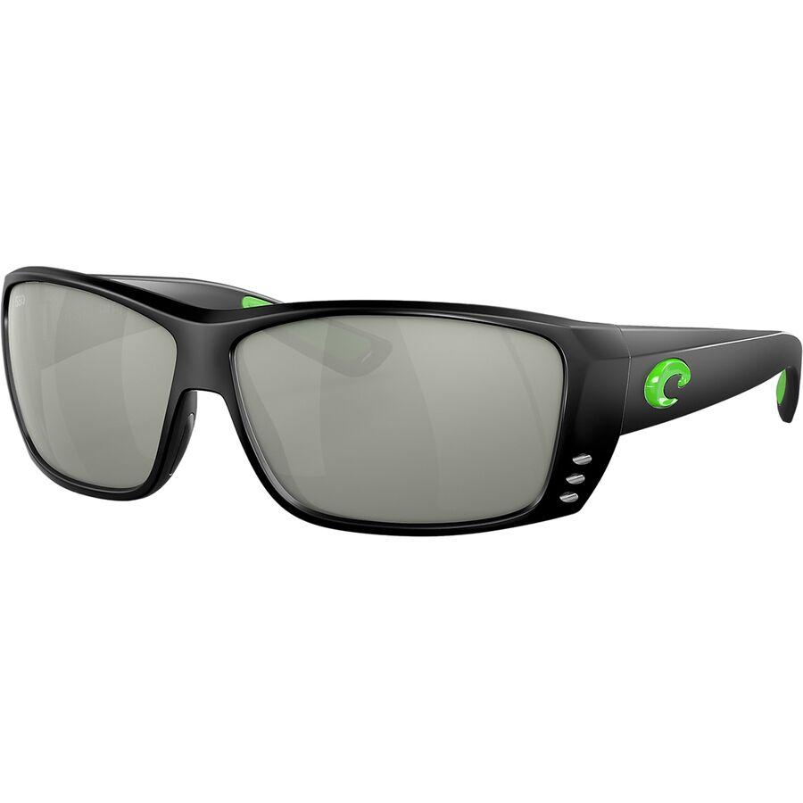 9b71bc332e48 Costa - Cat Cay Blackout 580G Polarized Sunglasses - Men's - Matte  Black/Green Logo