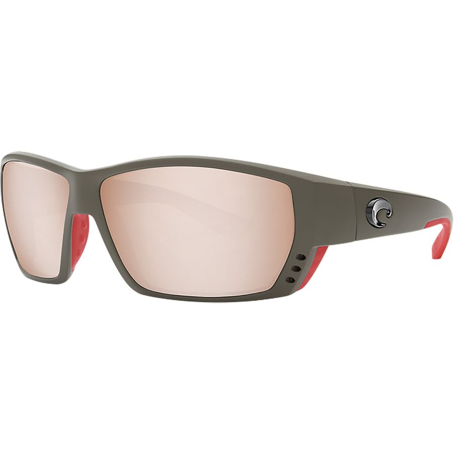 NEW! COSTA DEL MAR crystal-black//copper TUNA ALLEY POLARIZED 580P sunglasses