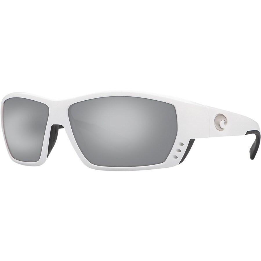 84193242ea0c Costa - Tuna Alley 580G Polarized Sunglasses - Men's - White/Silver Mirror
