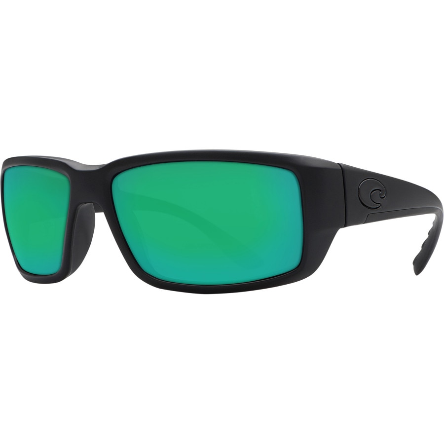 Costa - Fantail Blackout Polarized 580G Sunglasses - Men's - Green Mirror