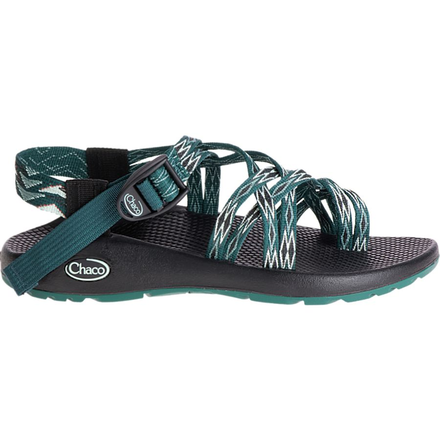 Genuine Womens Chaco ZX/2 Classic Sandal Eclipse Green Polyester Womens Eclipse Green Polyester Chaco Womens Chaco