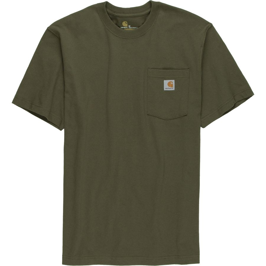 Carhartt workwear pocket t shirt men 39 s for Carhartt burgundy t shirt