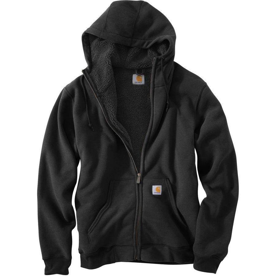 Carhartt Collinston Brushed Fleece Sherpa-Lined Full-Zip Hoodie - Mens