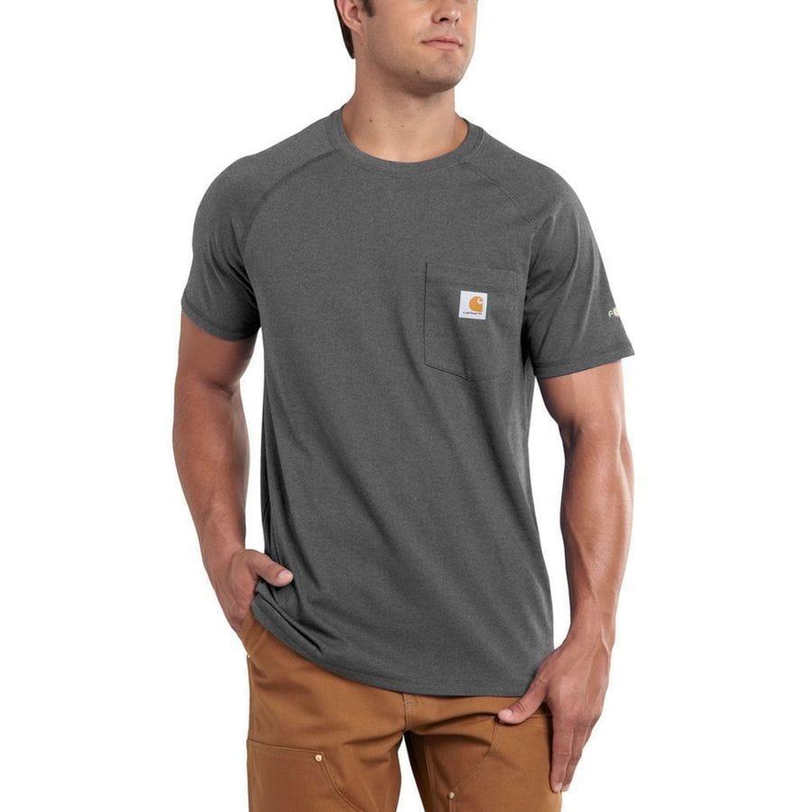 Carhartt force cotton delmont t shirt men 39 s for Carhartt men s long sleeve lightweight cotton shirt