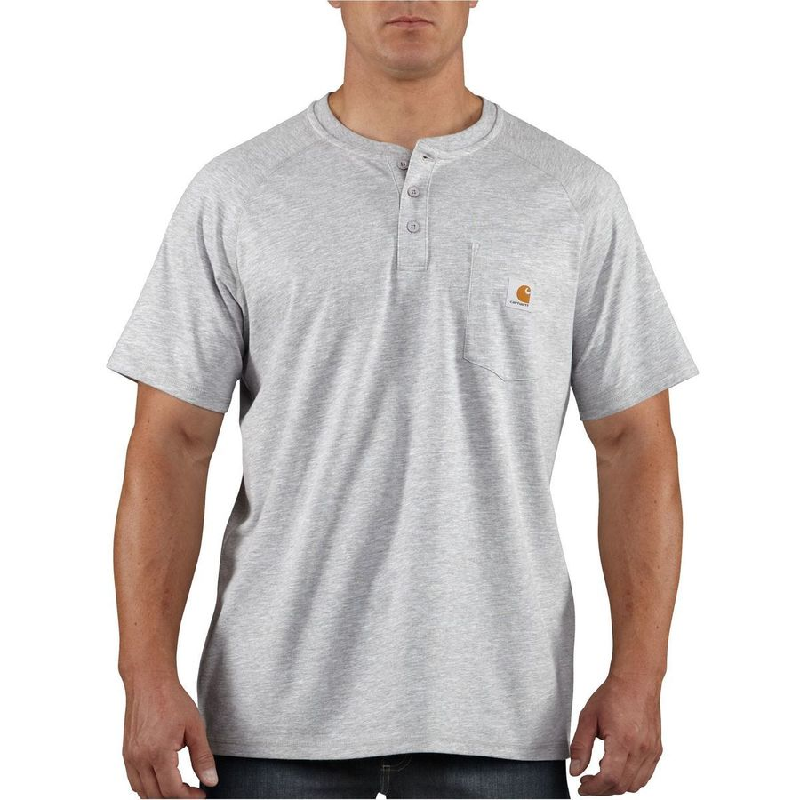 05aec7789459 Carhartt Force Cotton Delmont Short-Sleeve Henley Shirt - Men s ...