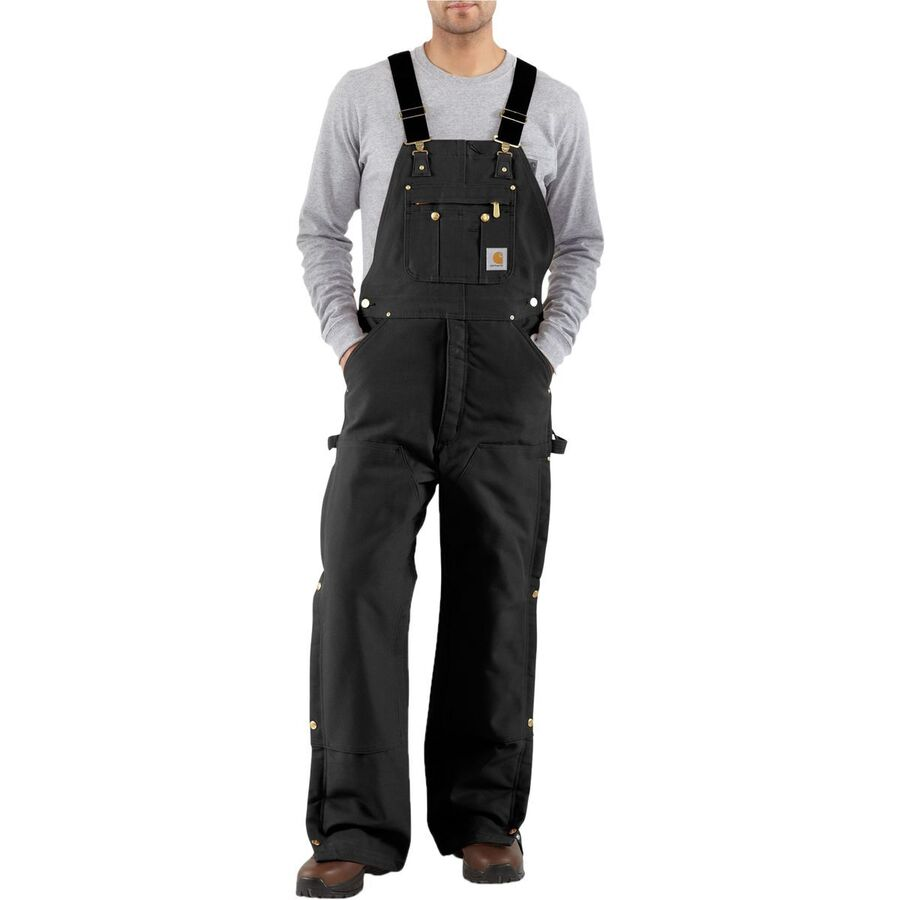 Carhartt Quilt-Lined Zip-To-Thigh Bib Overall Pant - Mens