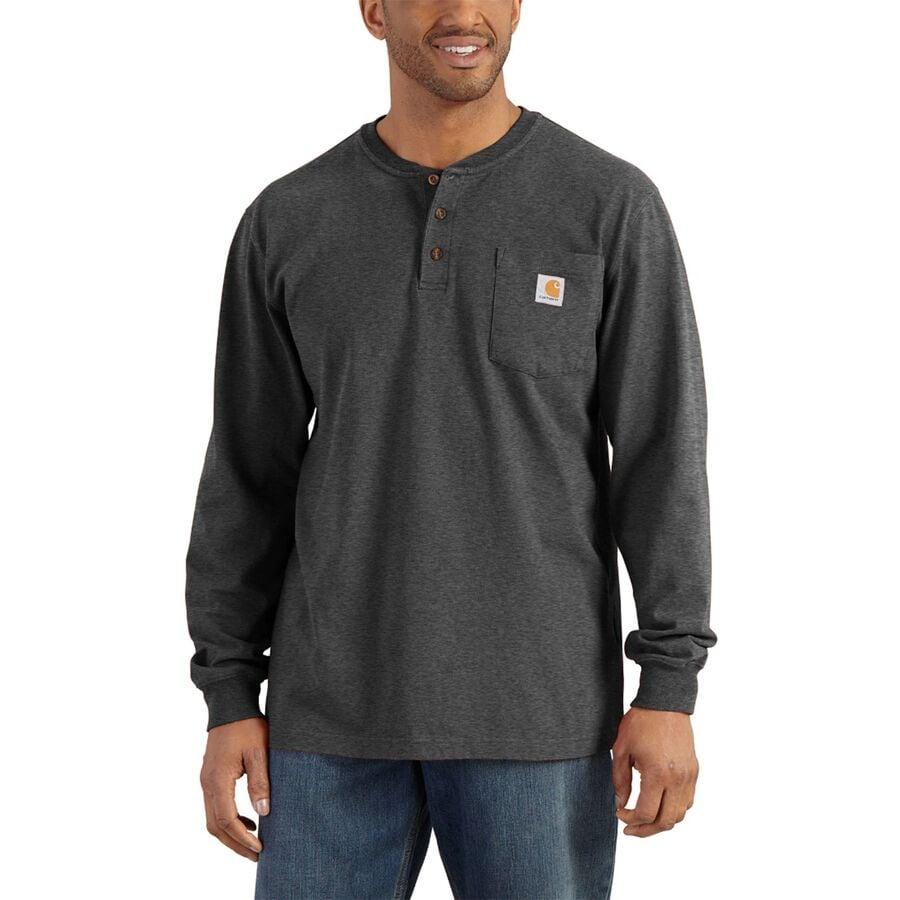 d741c6af315 Carhartt - Workwear Pocket Long-Sleeve Henley Shirt - Men s - Carbon Heather