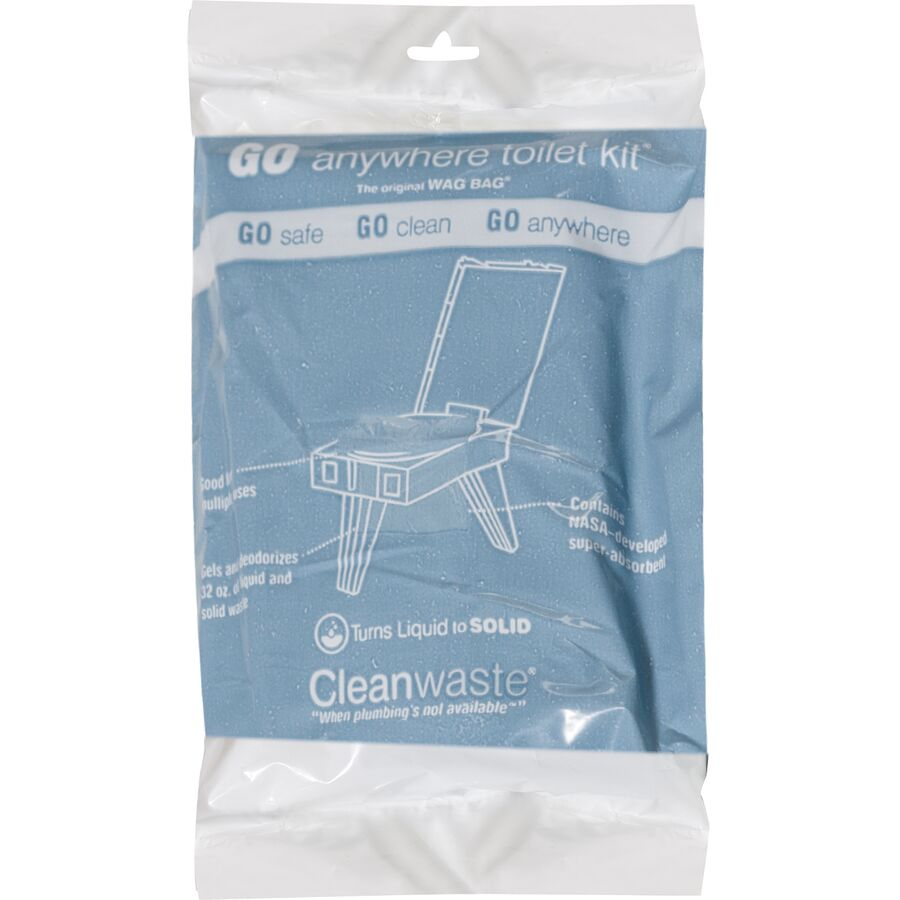 Cleanwaste - Go Anywhere Waste Bag Kit - 12 Pack - One Color 9d1e603ef9ef3