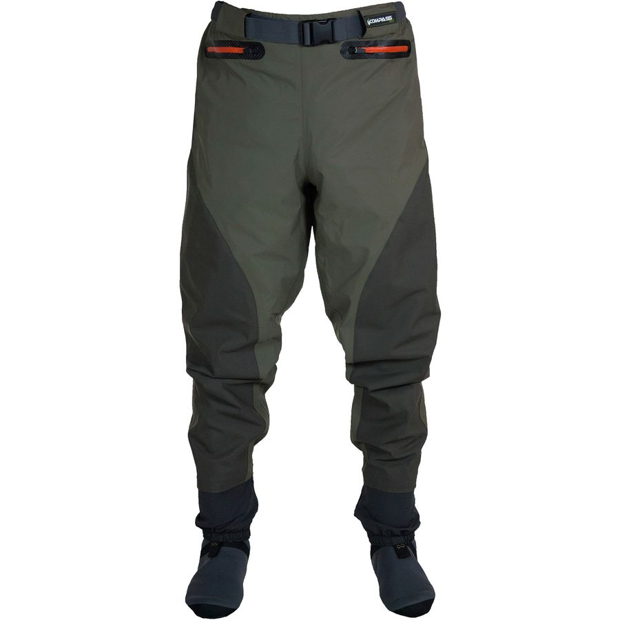 Compass 360 point guide breathable waist high wader pant for Fly fishing waders sale