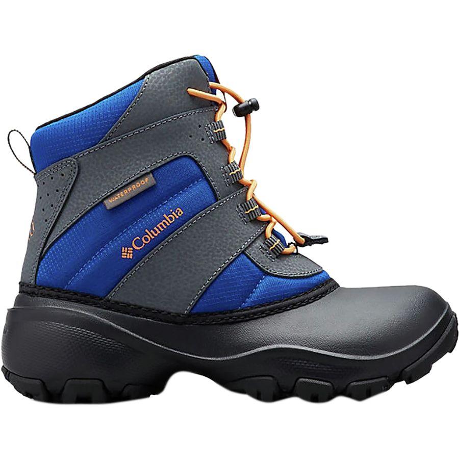 Columbia - Rope Tow III Waterproof Boot - Boys  - Azul Orange Blast 5571afcfcfb1