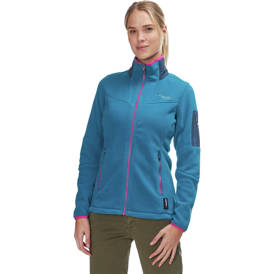 00812601eeb5 Columbia - Titanium Titan Pass 2.0 Fleece Jacket - Women s - Siberia Petrol  Blue