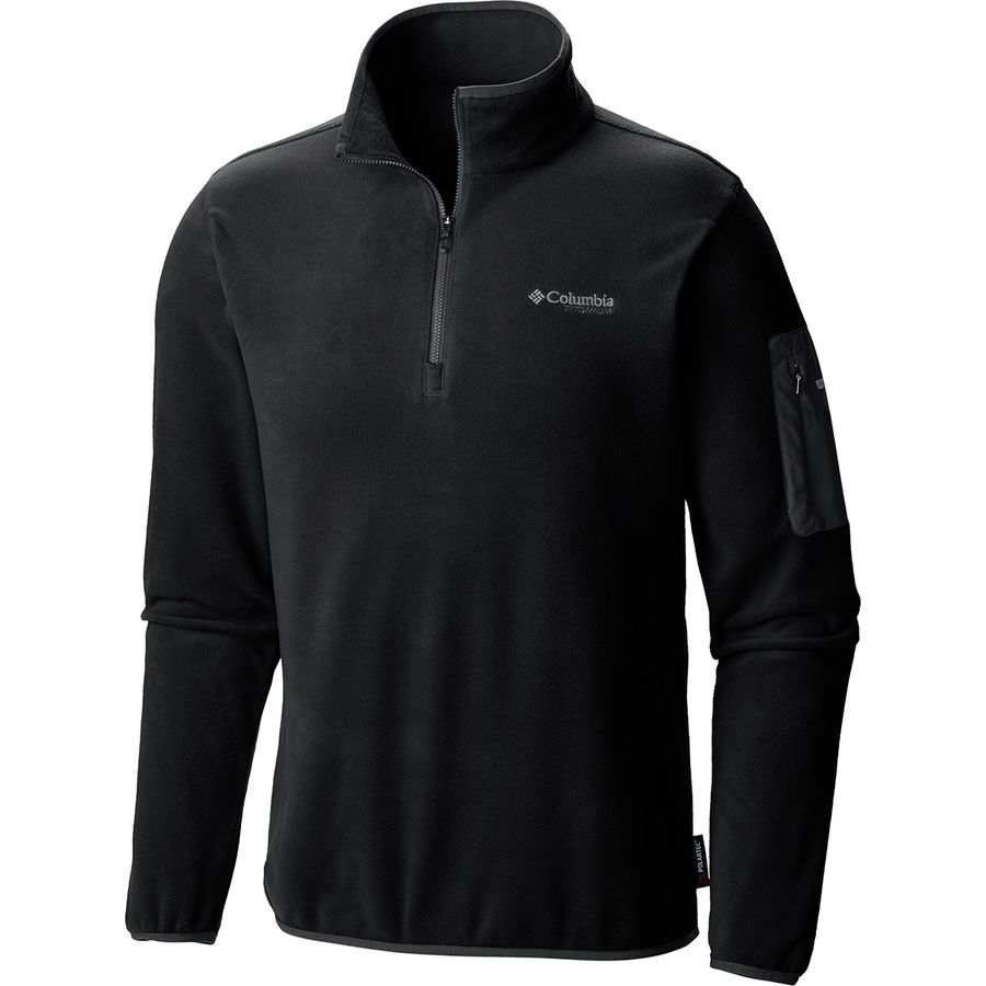 Columbia - Titanium Titan Pass 1.0 Half Zip Fleece Jacket - Men's - Black