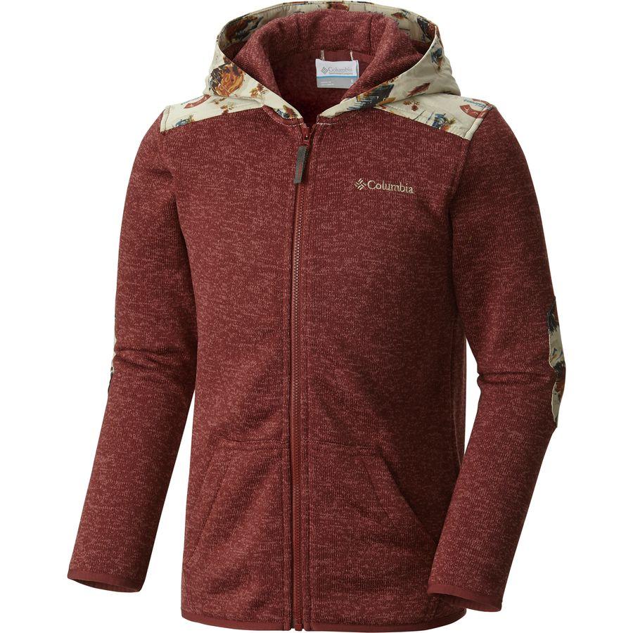 Columbia birch woods ii full zip fleece jacket boys for Columbia woods