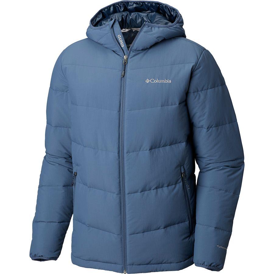 Columbia Mens Lone Fir 650 TurboDown Hooded Jacket sizes S M  Mosstone