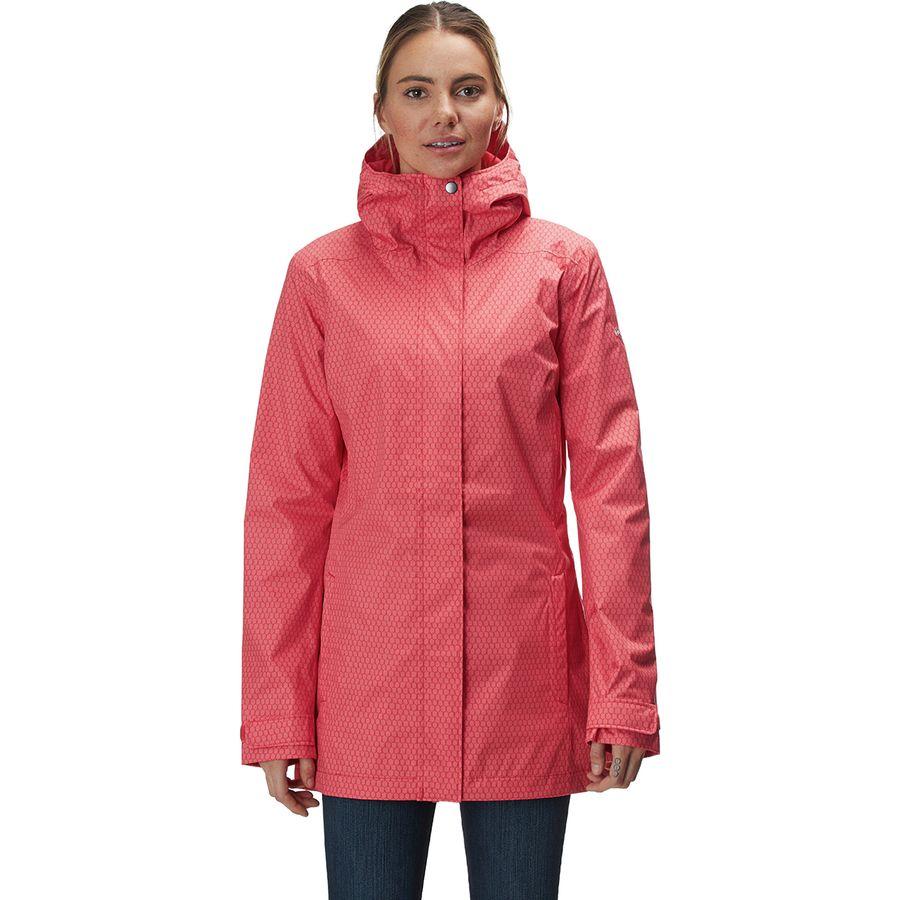 afedf72dfeba5 Columbia - Splash A Little II Jacket - Women s - Red Coral Mini Hex Print