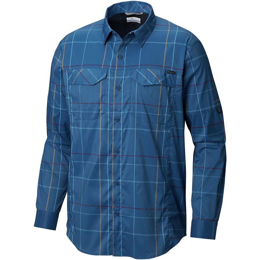 127d6eed5 Columbia - Silver Ridge Lite Plaid Long-Sleeve Shirt - Men's - Impulse Blue  Open