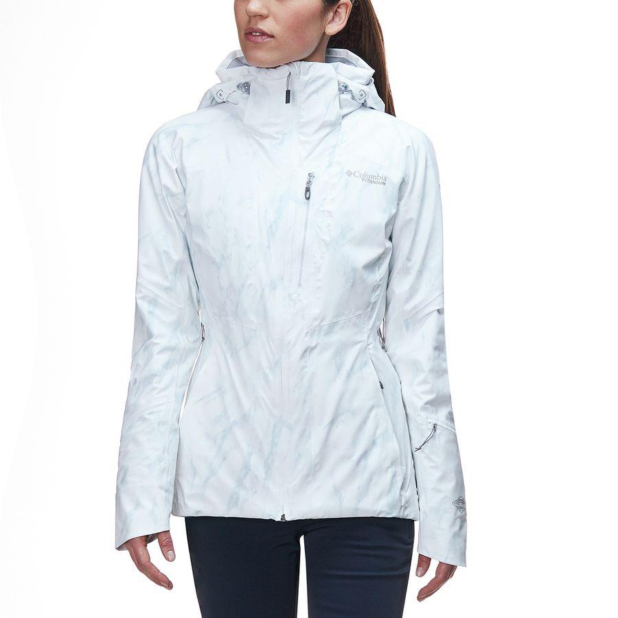 c8321e466db5 Columbia - Titanium Snow Rival Jacket - Women s - White Marble Print