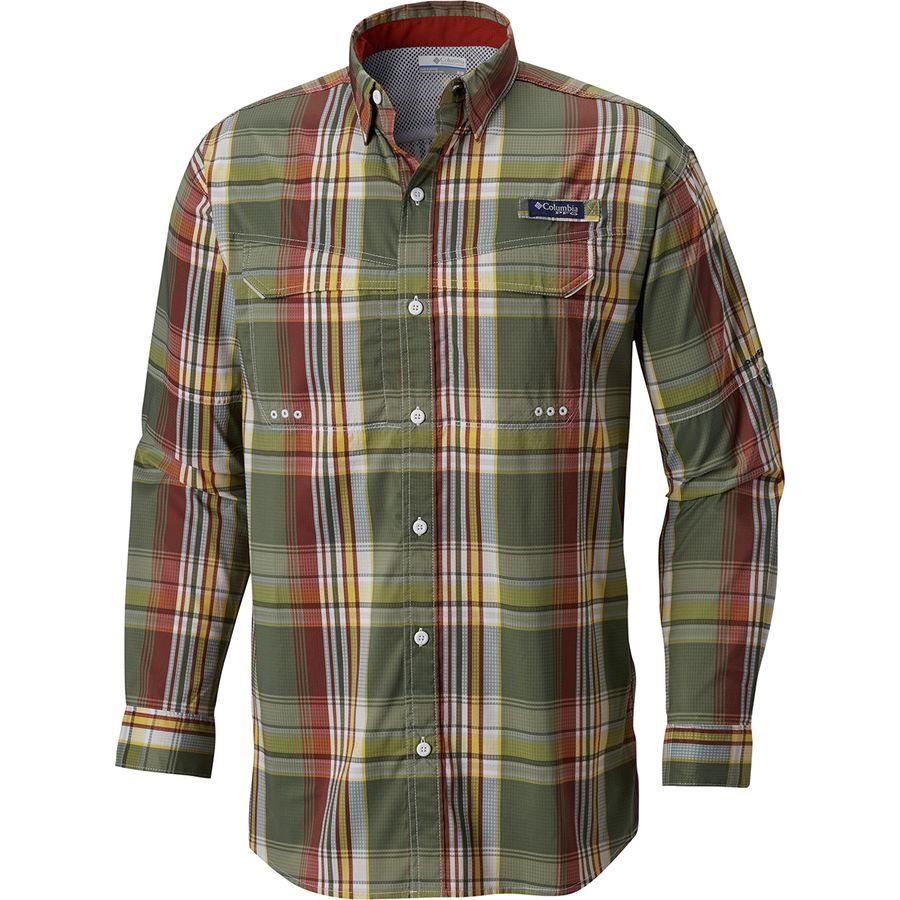 1a923019cde Columbia - Super Low Drag Long-Sleeve Shirt - Men's - Rusty Large Plaid