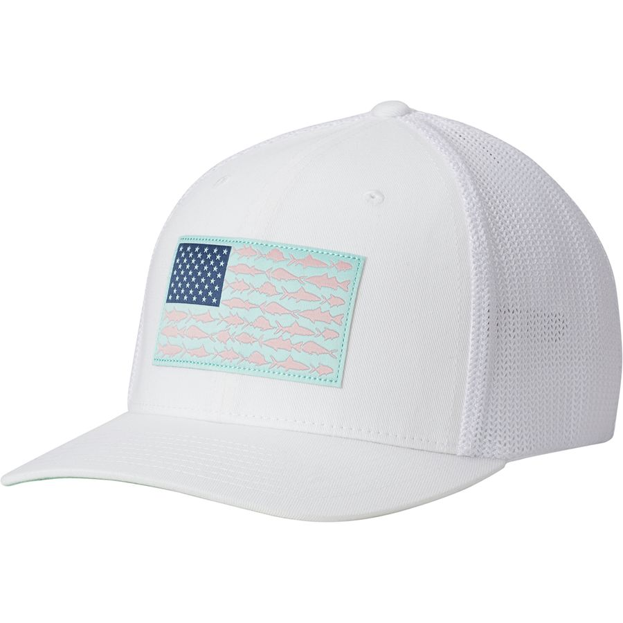 Columbia pfg mesh trucker hat men 39 s for Columbia fish flag hat