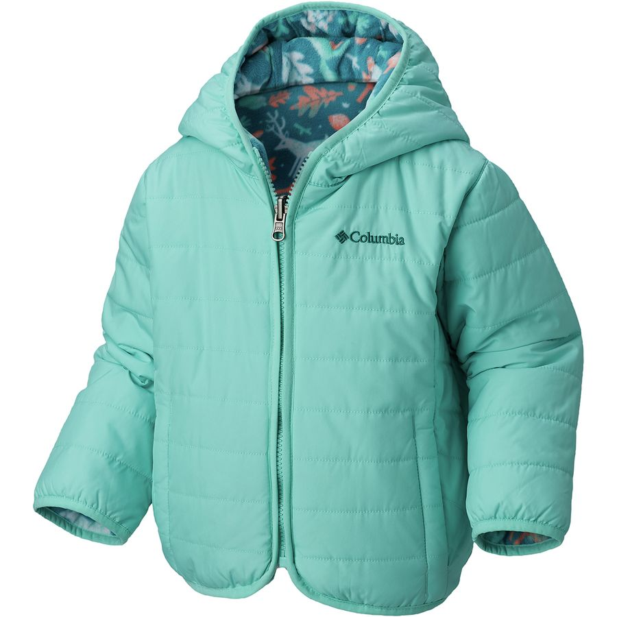 7d895875f2f Columbia - Double Trouble Insulated Jacket - Toddler Girls  - Emerald Deers  Print