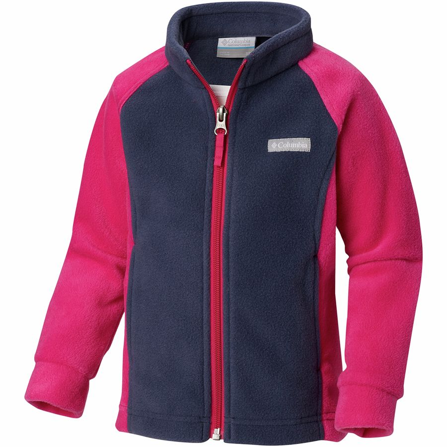 4aaa89ef77063 Columbia - Benton Springs Fleece Jacket - Infant Girls' - Nocturnal/Haute  Pink Sleeves