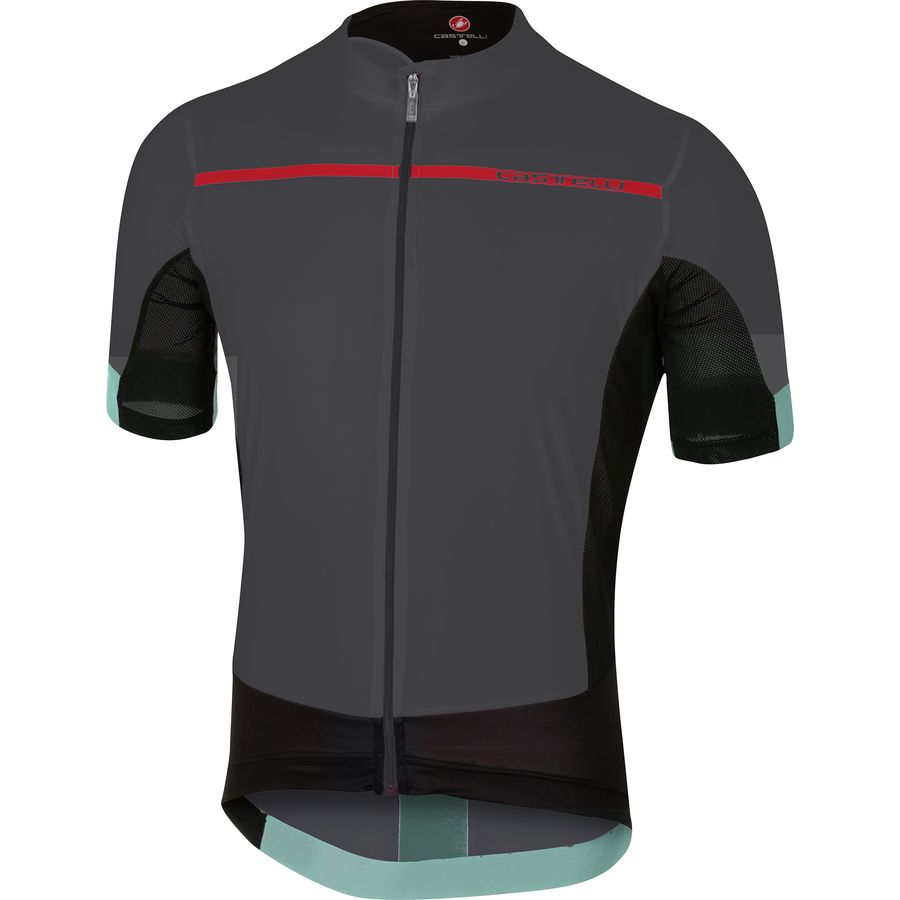 Castelli - Forza Pro Jersey - Men s - Anthracite Red 46b81c83f