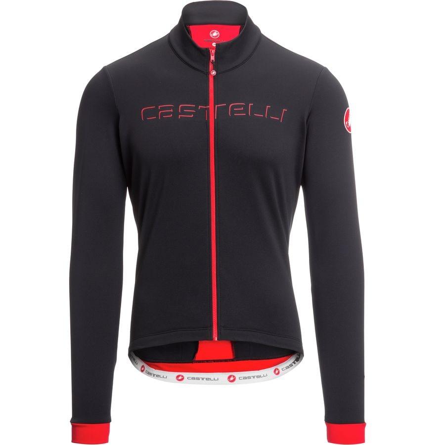 Castelli - Fondo Full-Zip Long-Sleeve Jersey - Men s - Black Red e8ba976d7
