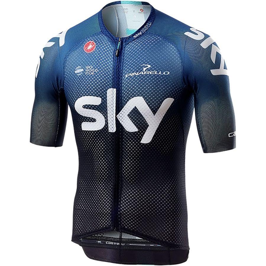 short sleeve full zip Castelli mens Team Jersey rear pockets