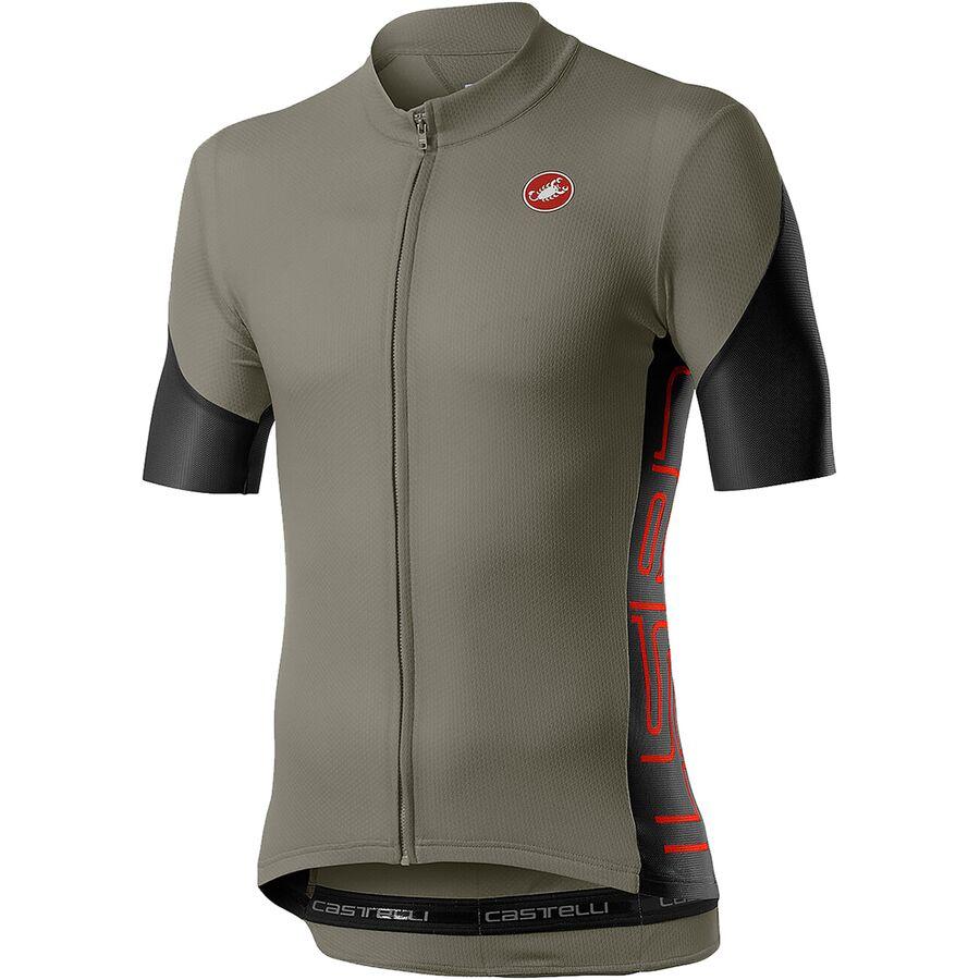 Vortex Grey Castelli Prologo Bicycle Cycle Bike Jacket Dark Grey Light Black