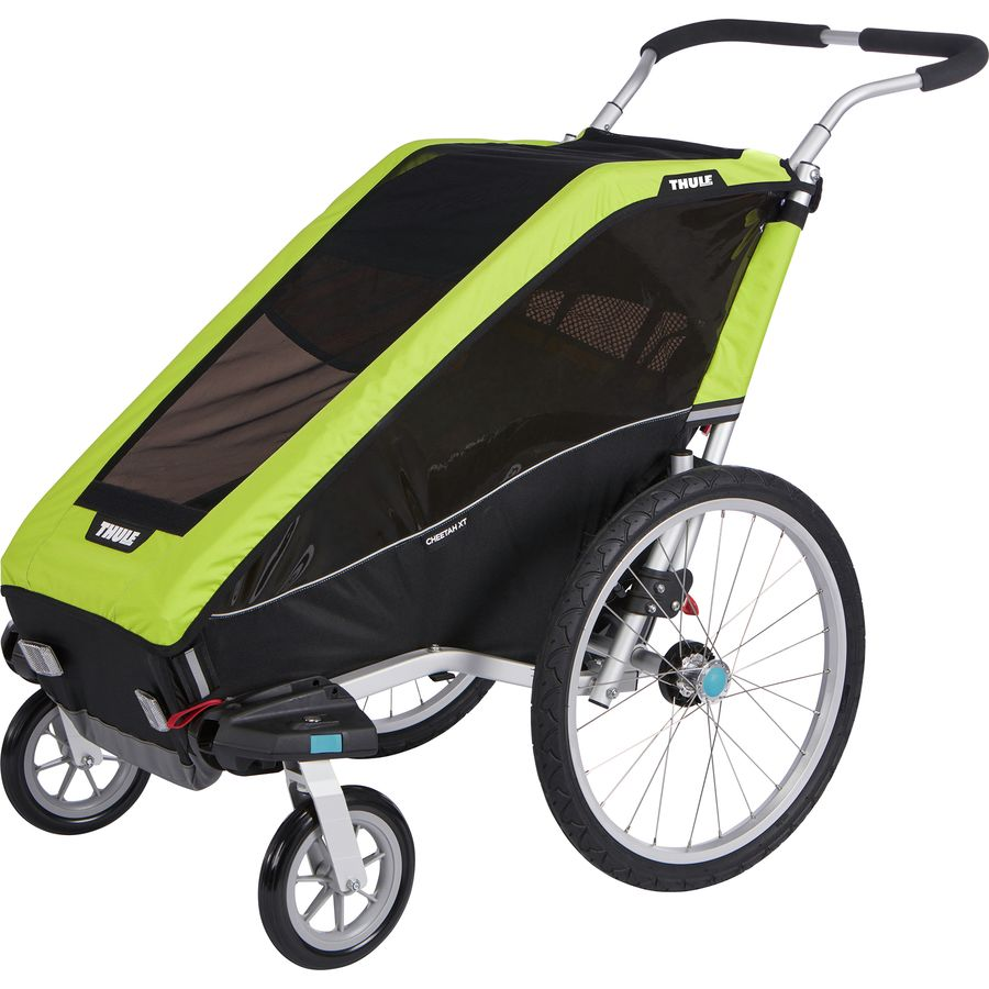 thule chariot cheetah 1 with stroller kit. Black Bedroom Furniture Sets. Home Design Ideas