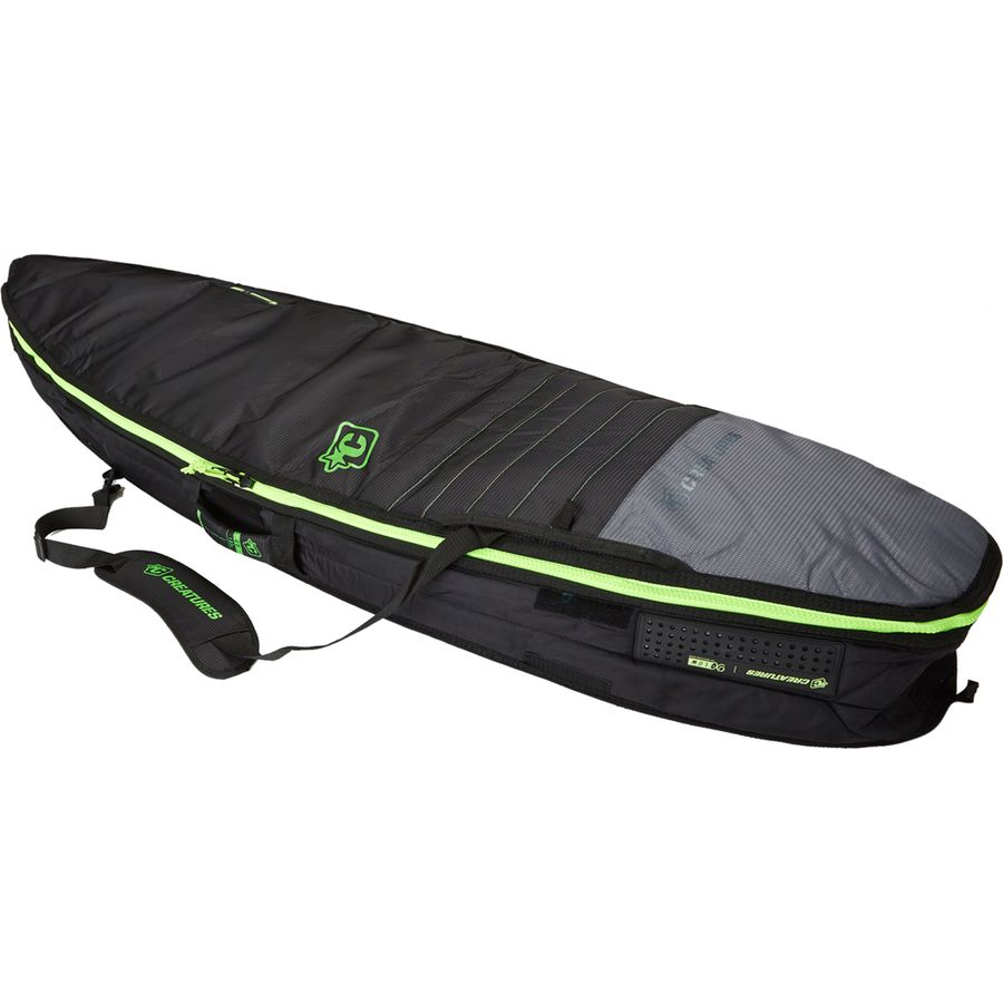 Creatures Of Leisure Universal Double Surfboard Bag Charcoal Lime
