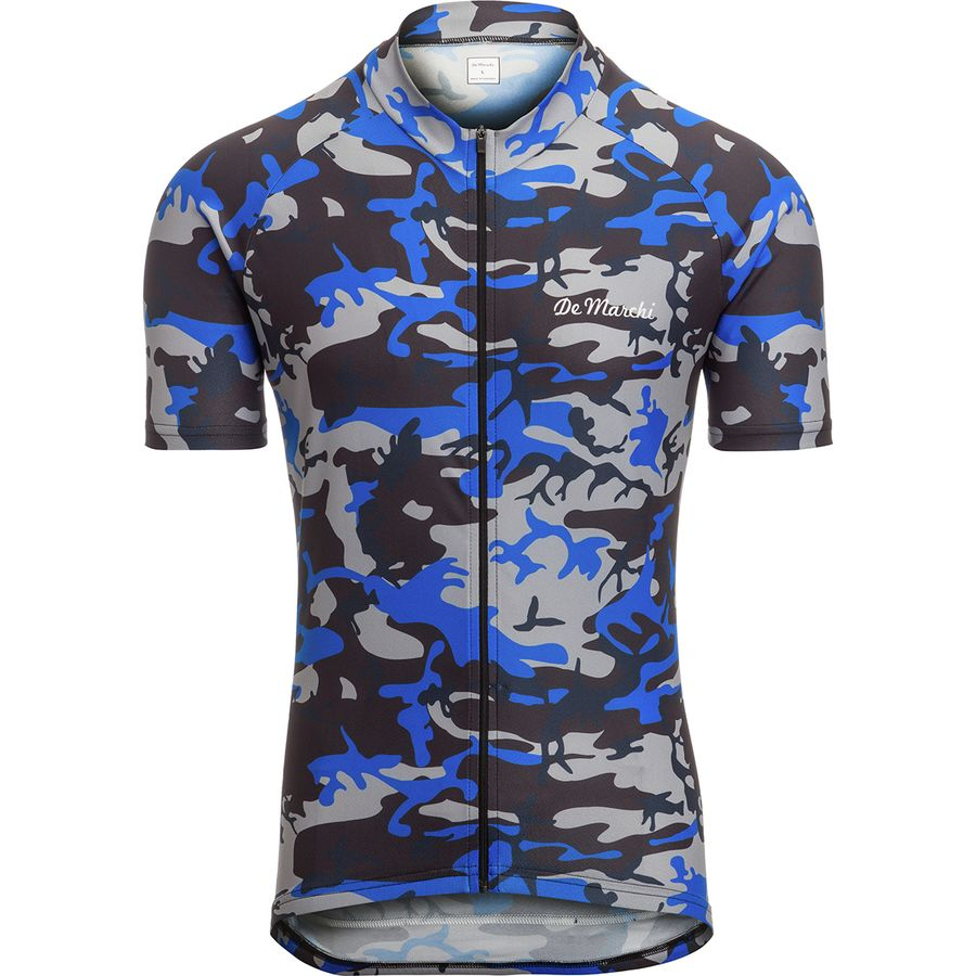De Marchi - Camo Short-Sleeve Jersey - Men's - Blue Camo