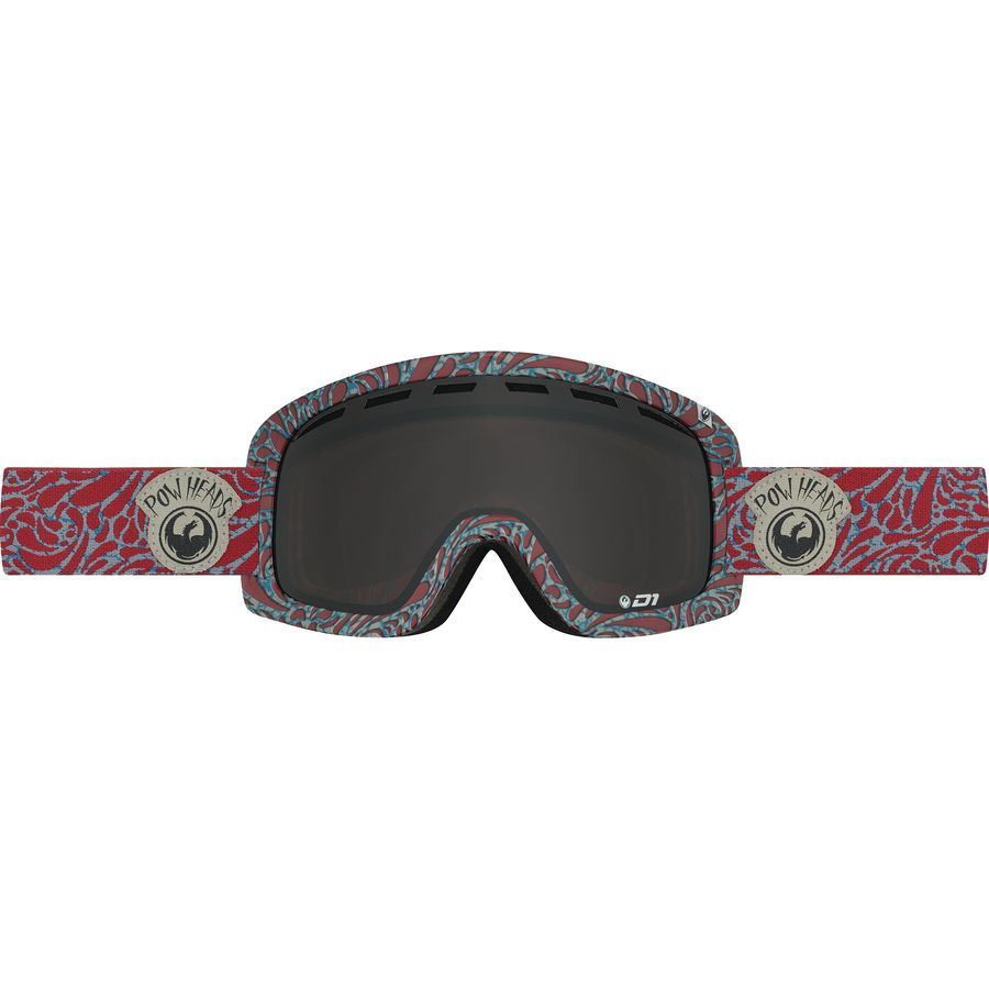 e1a86688d1c Dragon - D1 Goggles - Men s - Pow Heads Red   Dark Smoke Plus Yellow Blue
