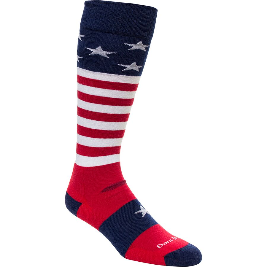 Darn Tough Merino Wool Captain America Cushion Ski Sock - Mens