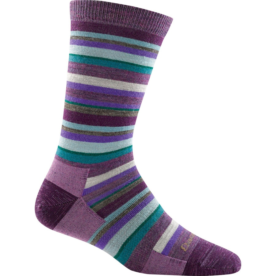 Darn Tough Sassy Stripe Light Crew Sock - Womens