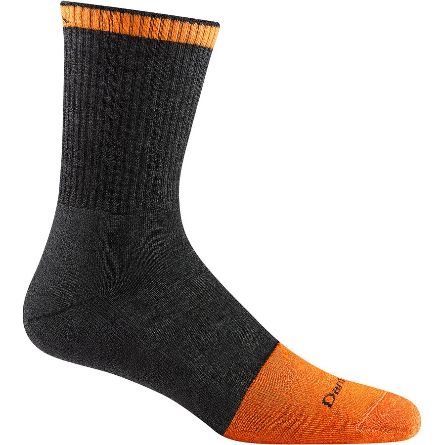 Darn Tough Merino Wool Steely Micro Crew Cushion Sock - Mens