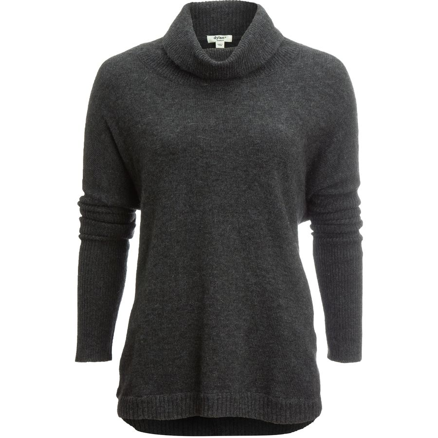 Dylan Rib Trim Turtleneck Top - Womens