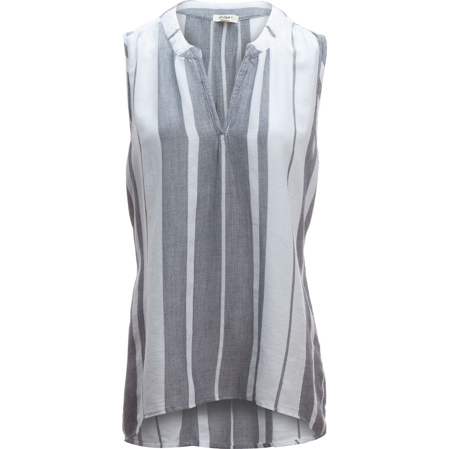 Dylan Taylor Centered Stripe Sleeveless Hi-Lo Tunic - Womens