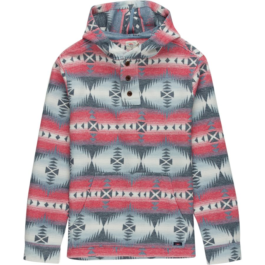 Faherty Pacific Hooded Poncho - Mens