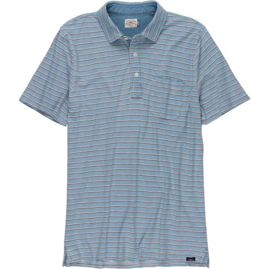 Faherty Striped Polo Shirt - Mens