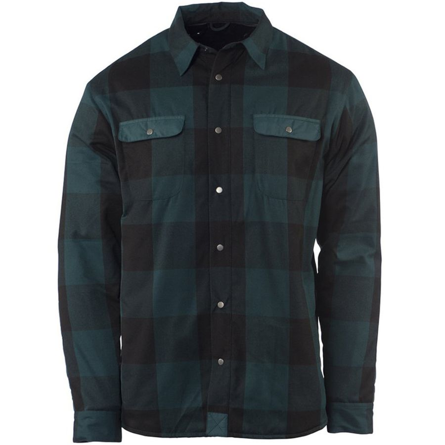 Flylow sinclair insulated flannel shirt jacket men 39 s for Mens insulated flannel shirts