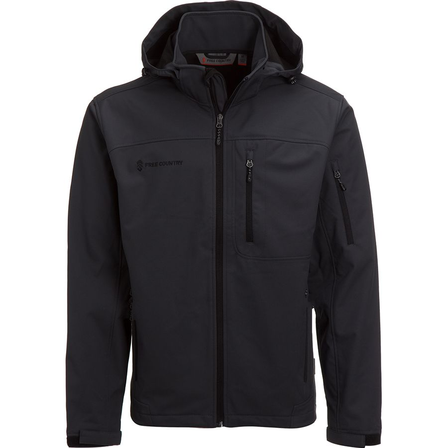 Free Country Super Soft Shell Jacket With Detachable Hood Men S Steep Cheap