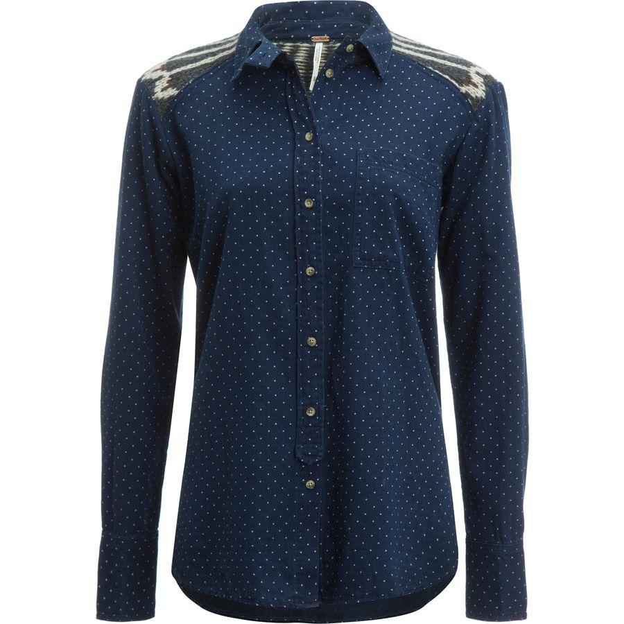 Free People Sage Sweater Buttondown Shirt - Womens